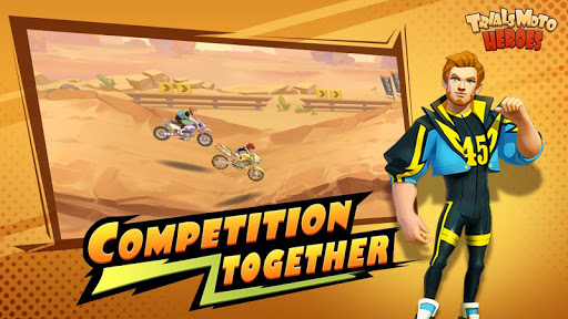 Đua xe cạnh tranh nhau trong game đua xe Trials Moto Heroes