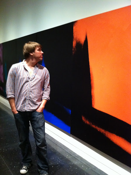 Photo: Andy Warhol painting exhibit (Shadows) at the Arts Club. Adam is a serious art connaisseur.