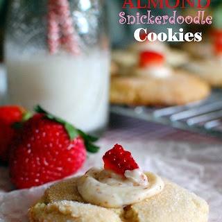 Almond Snickerdoodle Cookies
