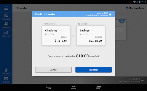 Heartland Bank (NE) for Tablet- screenshot thumbnail