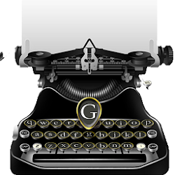 Classical Black Traditional Typewriter Theme