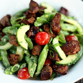 Asian Sugar Snap Pea and Steak Salad