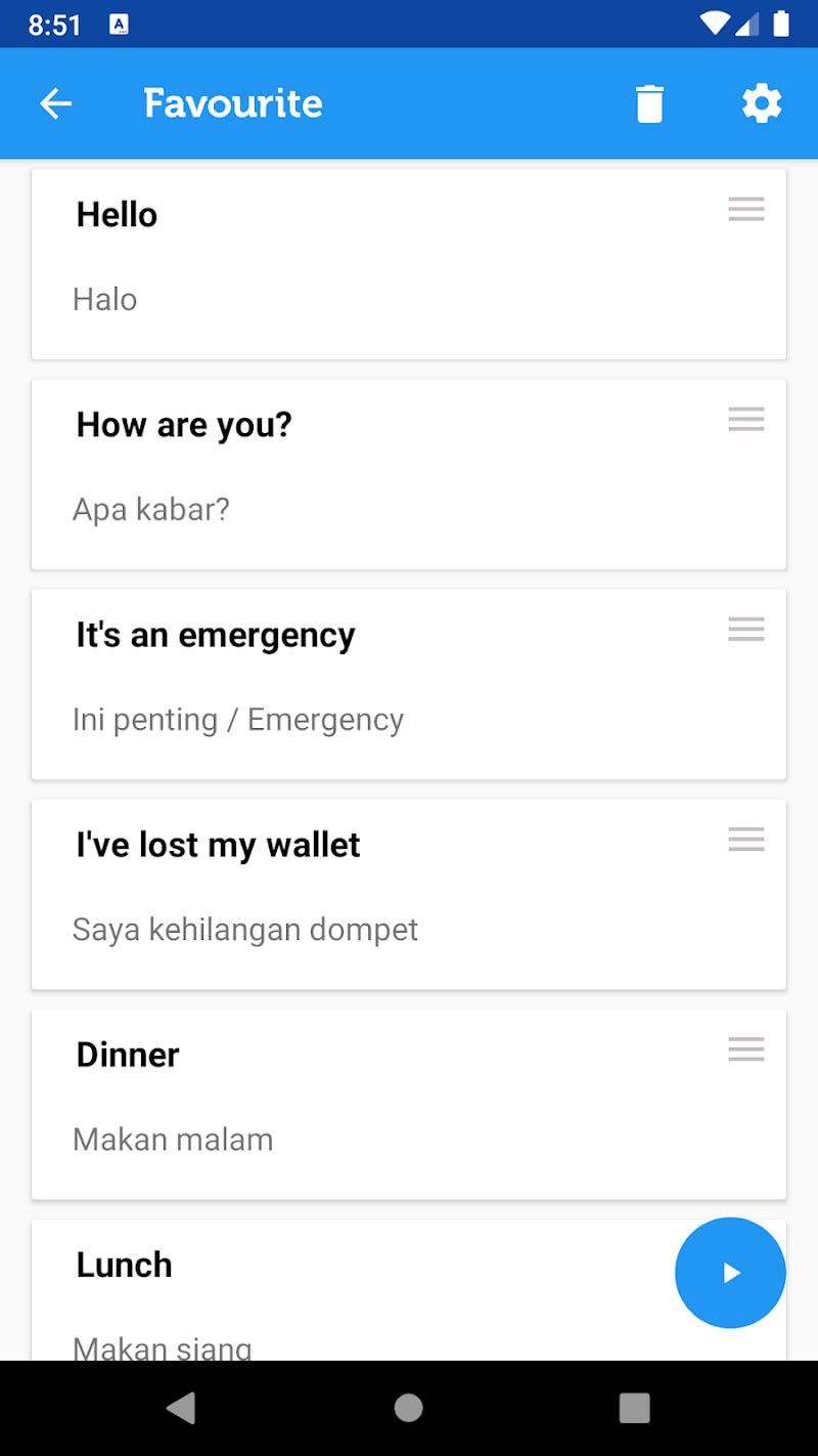 Скриншот Learn Bahasa Indonesian