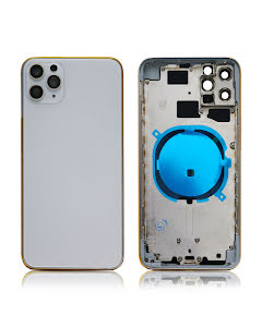 iPhone 11 Pro Max Back Housing without logo High Quality Silver