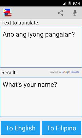 Filipino Translator Pro Screenshot