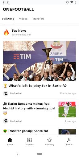 OneFootball - Soccer Scores screenshot 1