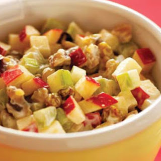 Apple, Celery, and Walnut Salad.