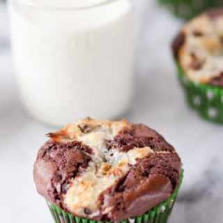 Cream Cheese Brownie Cupcakes.