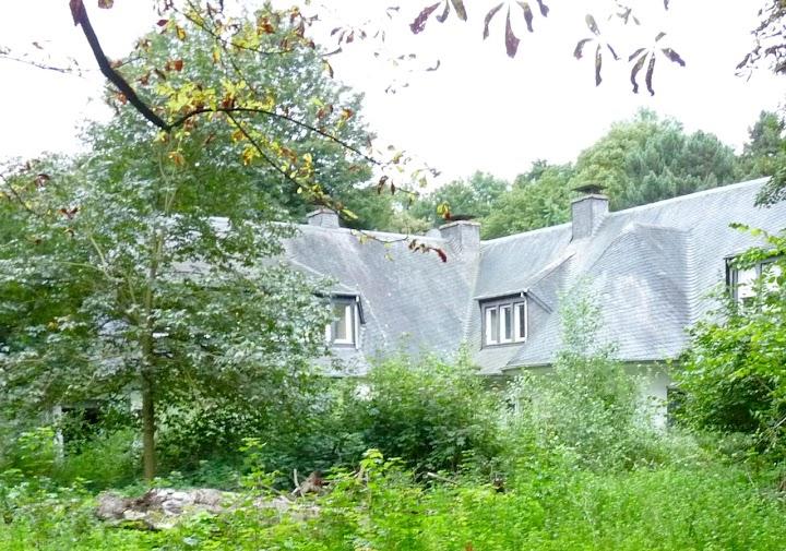 Verwilderter Garten mit Villa.