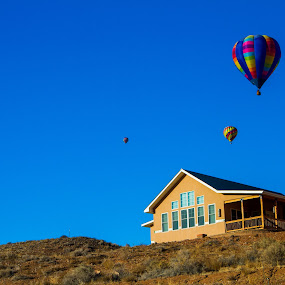 Balloon House by Josh Ewing - Buildings & Architecture Homes ( utah, desert home, balloons )