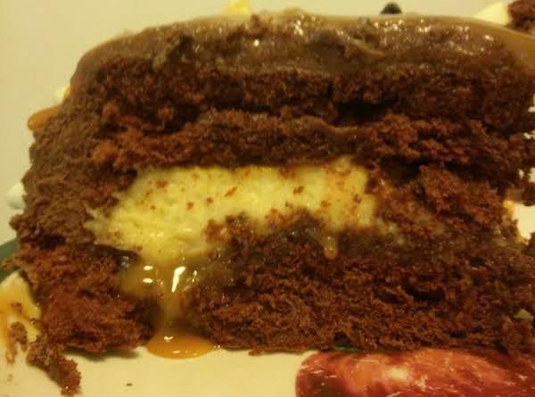 Chocolate Cake ..  Cheese Cake..  Ooey Gooey Caramel.. Heavenly!