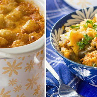 Cheesy Slow Cooker Tater Tot Casserole.
