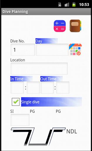scuba diving Dive Planner lite 1.7 Windows u7528 6