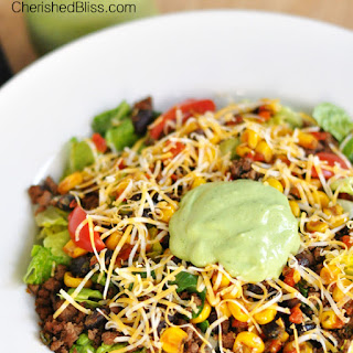 The Ultimate Taco Salad with a Creamy Avocado Dressing
