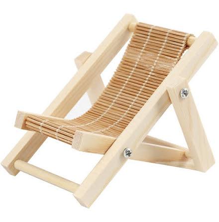 Strandstol i trä - 7,5 cm x 9,5 cm