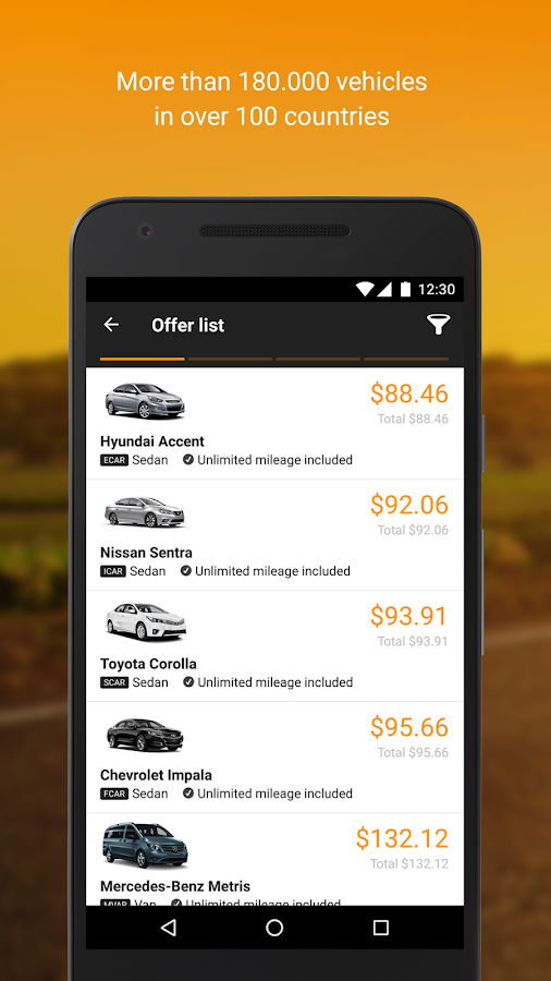Screenshots of Sixt for iPhone