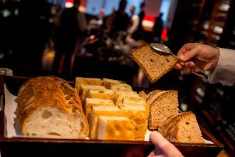 Photo: Crusty golden focaccia, rustic sesame Italian loaf and multigrain slices at Marea