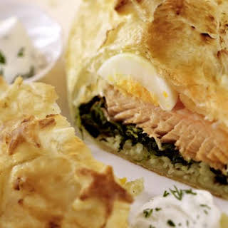 Salmon in Puff Pastry.