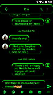 Neon Green SMS Zprávy - náhled