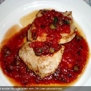Kalbsschnitzel mit Tomaten