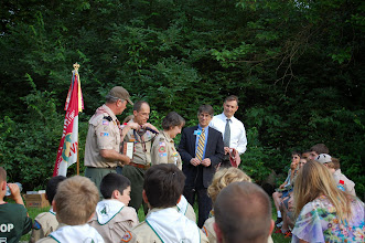Photo: Presentation of Wood Badge to Rebecca Koesters
