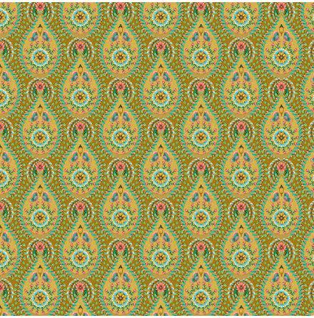 Pip 2020 Raindrops Tapet med geometriskt mönster - Ochre