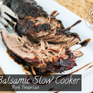 Balsamic Slow Cooker Pork Tenderloin