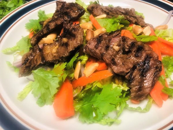 Crispy Thai Beef Salad & Ginger-lime Dressing - Ww Recipe