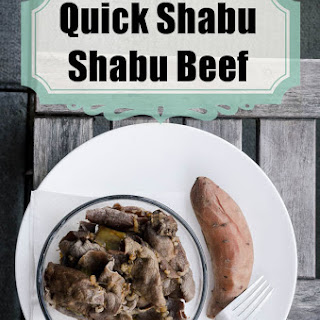 Paleo Shabu Shabu Beef Dinner