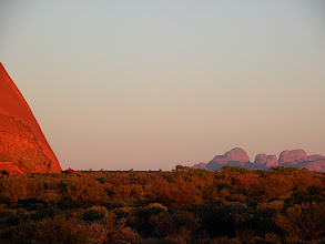 Photo: Dawn at Uluru with Olga's in the background
