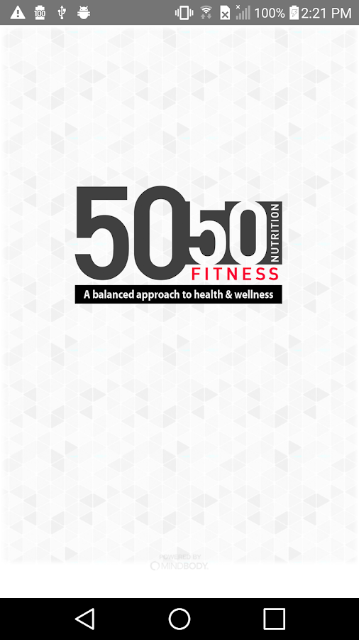 50/50 Fitness/Nutrition- screenshot