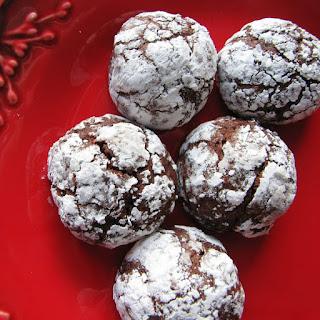 Chocolate Rum Crinkle Cookies.