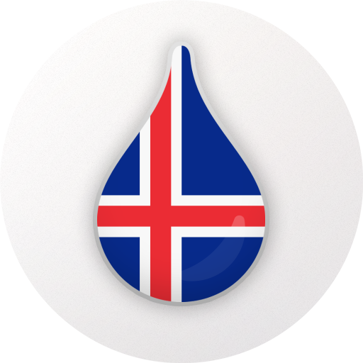Drops: Learn Icelandic language for free! Icon