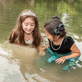Two Wet Flower Girls 02 by Carter Keith - Wedding Other ( wet girls, rock the frock, children, flower girls, trash the dress )