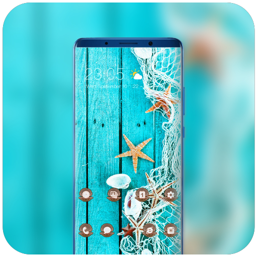 Theme for vivo v9 pro summer seashell wallpaper icon