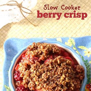 Slow Cooker Berry Crisp.