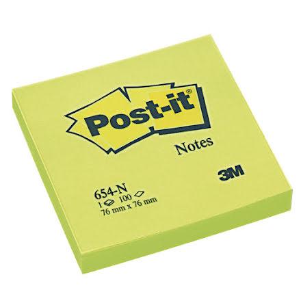 Post-it 654 76x76 neongrön