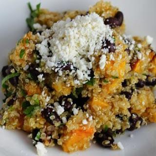 Roasted Butternut Squash & Black Bean Quinoa