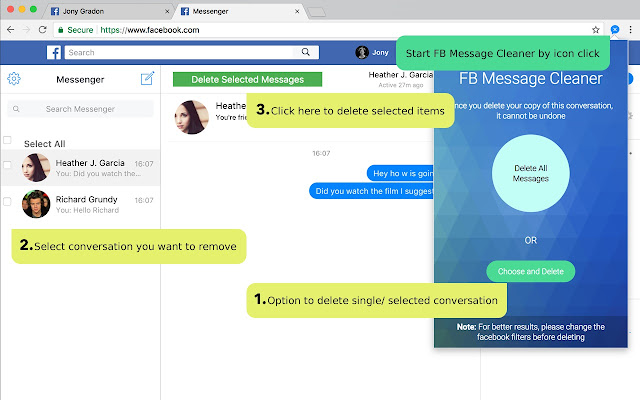 Message cleaner chrome web store fb message cleaner delete all facebook messages at once with lightweight and secure facebook messenger cleaner tool ccuart Gallery