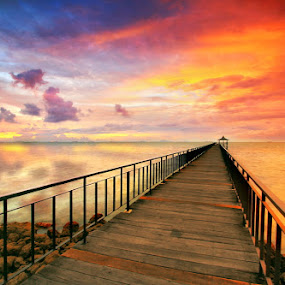 Sunset Path by Alit  Apriyana - Buildings & Architecture Bridges & Suspended Structures