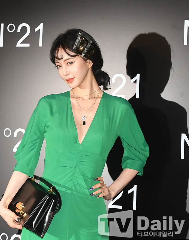 han ye seul green dress 4