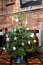 Photo: The star-decorated Christmas tree in St Oswalds Church, Ashbourne in 2015