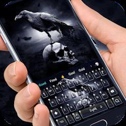 Horror Crow Skull Theme Keyboard