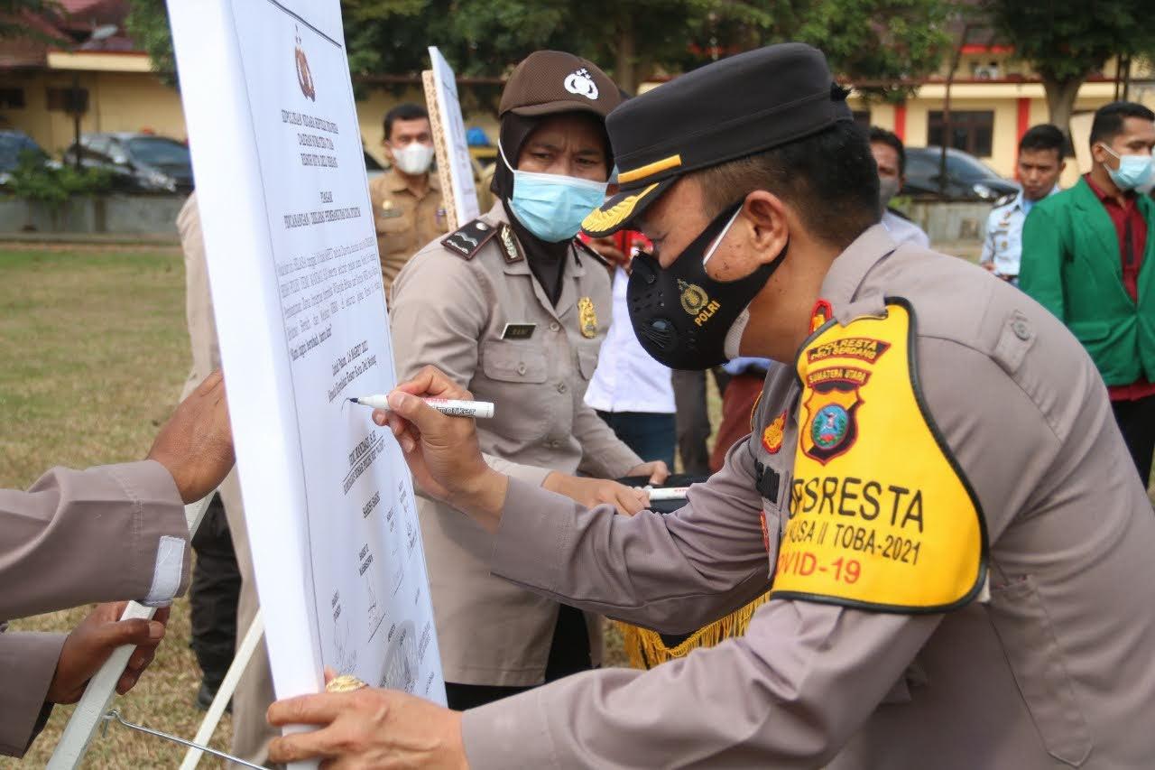 Polresta Deli Serdang Canangkan Zona Integritas Wilayah Birokrasi Bersih dan Melayani