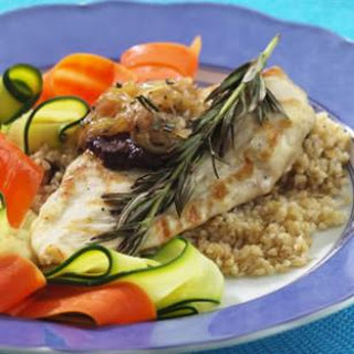 Grilled Rosemary-Scented Chicken with Sweet & Sour Onion Jam