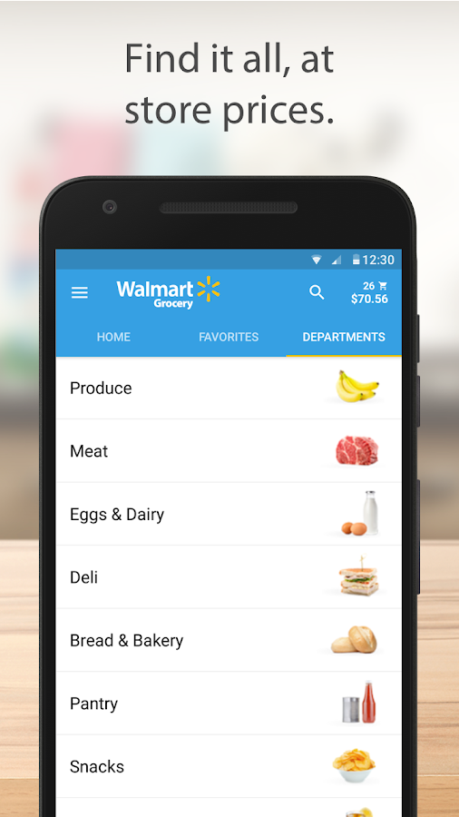 Walmart Grocery- screenshot