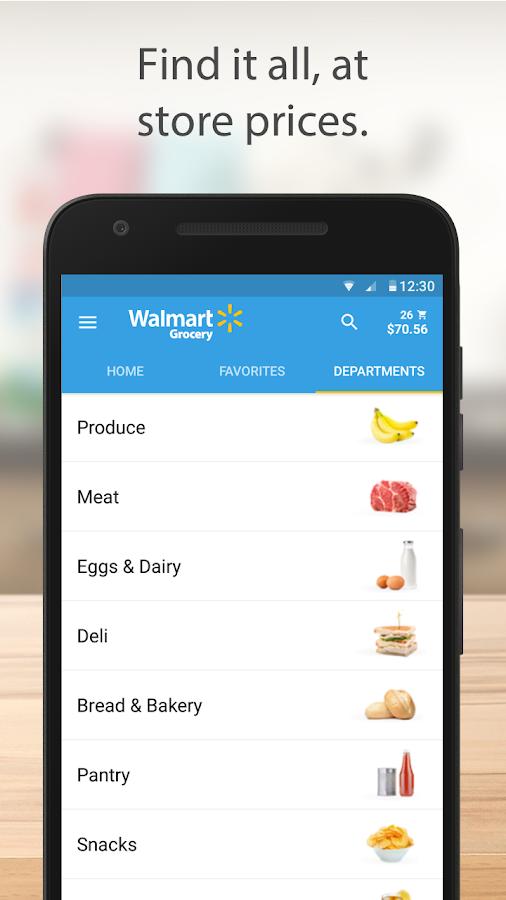 Walmart Shopping List App