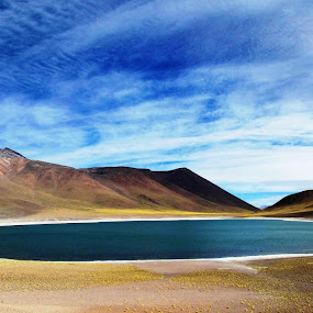 Laguna Miscanti by Fabio Ferraro - Landscapes Waterscapes ( chile, laguna, laguna miscanti, lake, landscape )