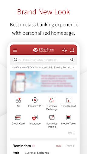 Screenshot for BOCHK in Hong Kong Play Store