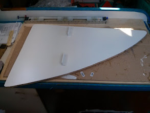 Photo: three coats of primer on the aft ice box panel.Very pleased with the Alexseal primer.